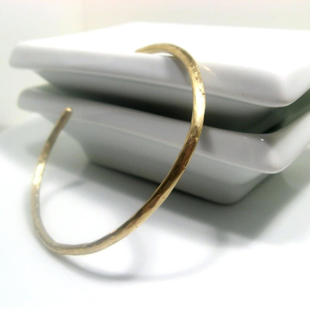Image of twig cuff. bracelet. brass.