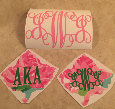 Image of Initials Decal