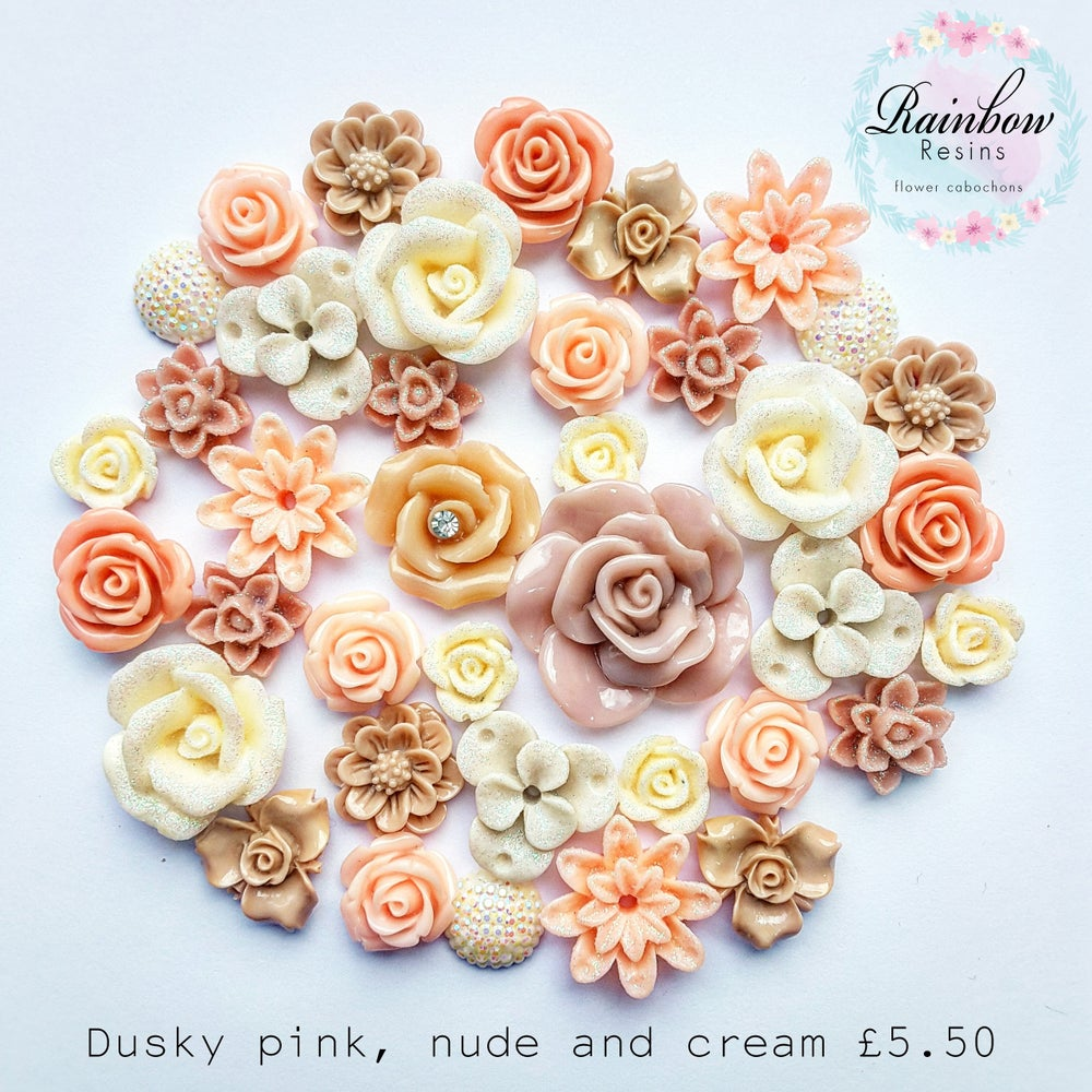 Image of Dusky pink, nude and cream