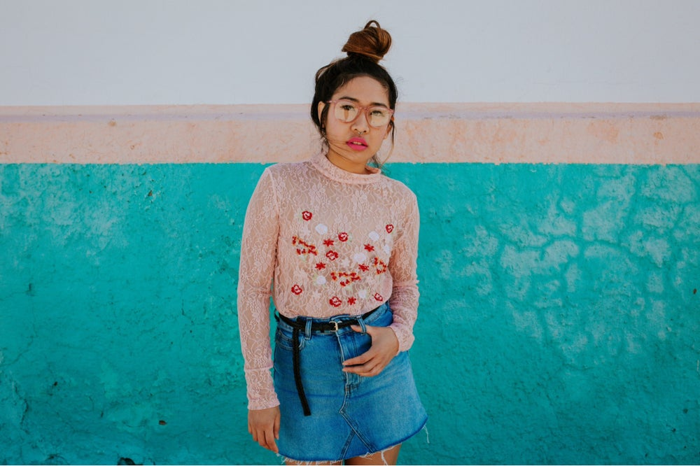 Image of SWEET ROSES Blusa encaje bordada