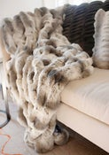 Image of Fur Throw Deluxe 60x72 (SOLD)