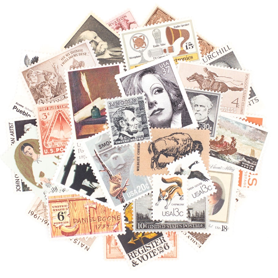 Image of Neutral Vintage Stamps