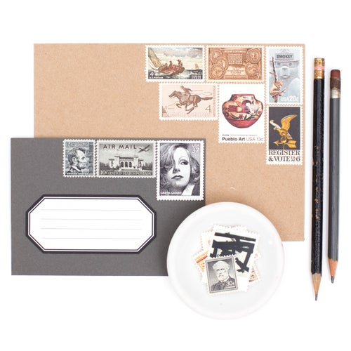 Image of Neutral Vintage Stamps