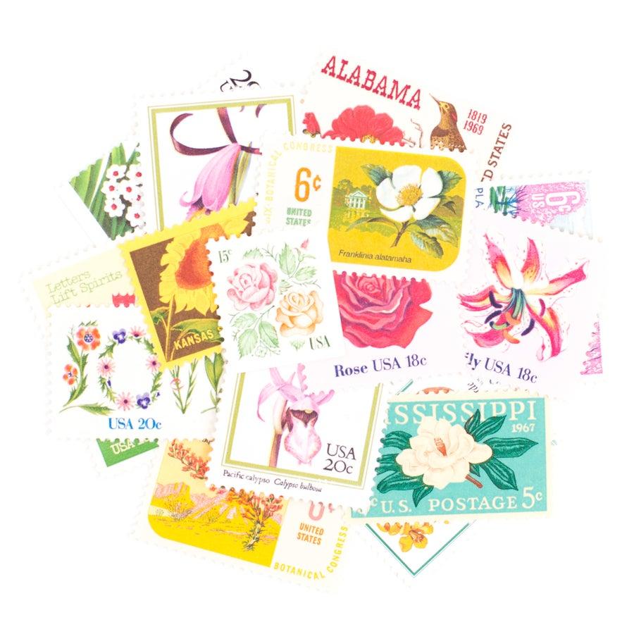 Image of Floral Vintage Stamps