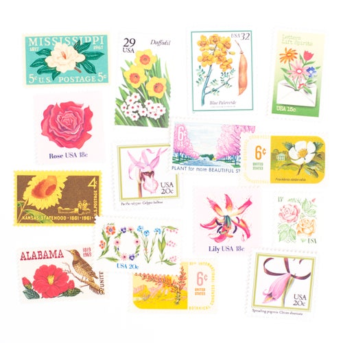 Image of Floral Vintage Stamps