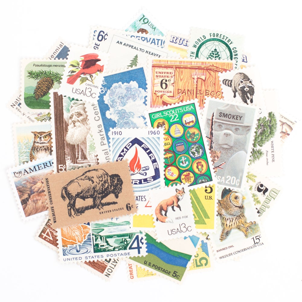 Image of Great Outdoors Vintage Stamps