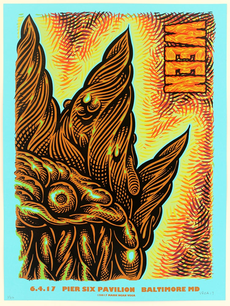 Image of  WEEN Tour Poster, Baltimore 2017 (Blue Variant)