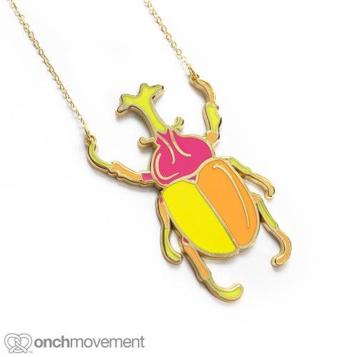 Image of Unicorn Beetle Necklace