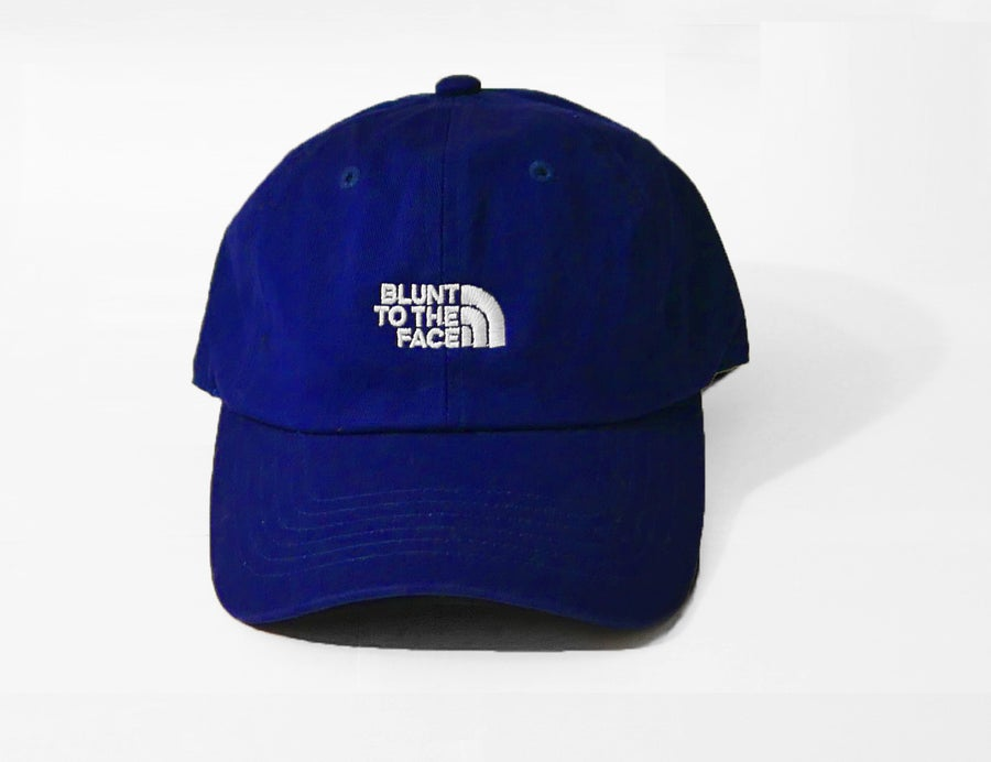 Image of Blunt To The Face Dad Hat (Blue)