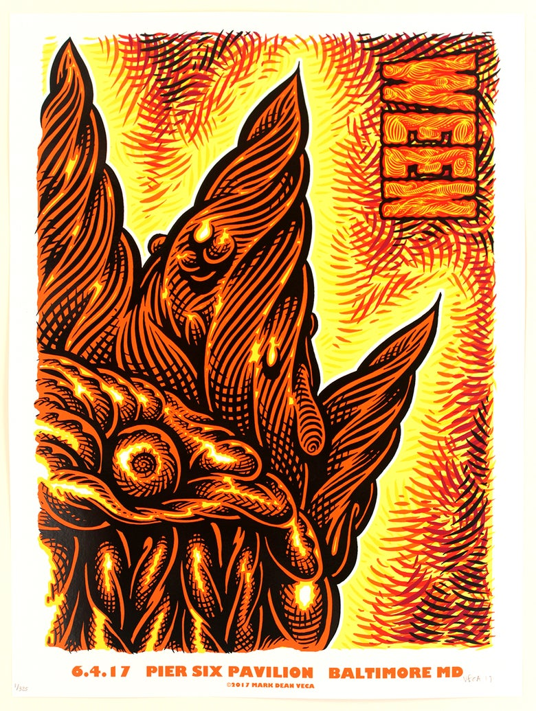 Image of  WEEN Tour Poster, Baltimore 2017