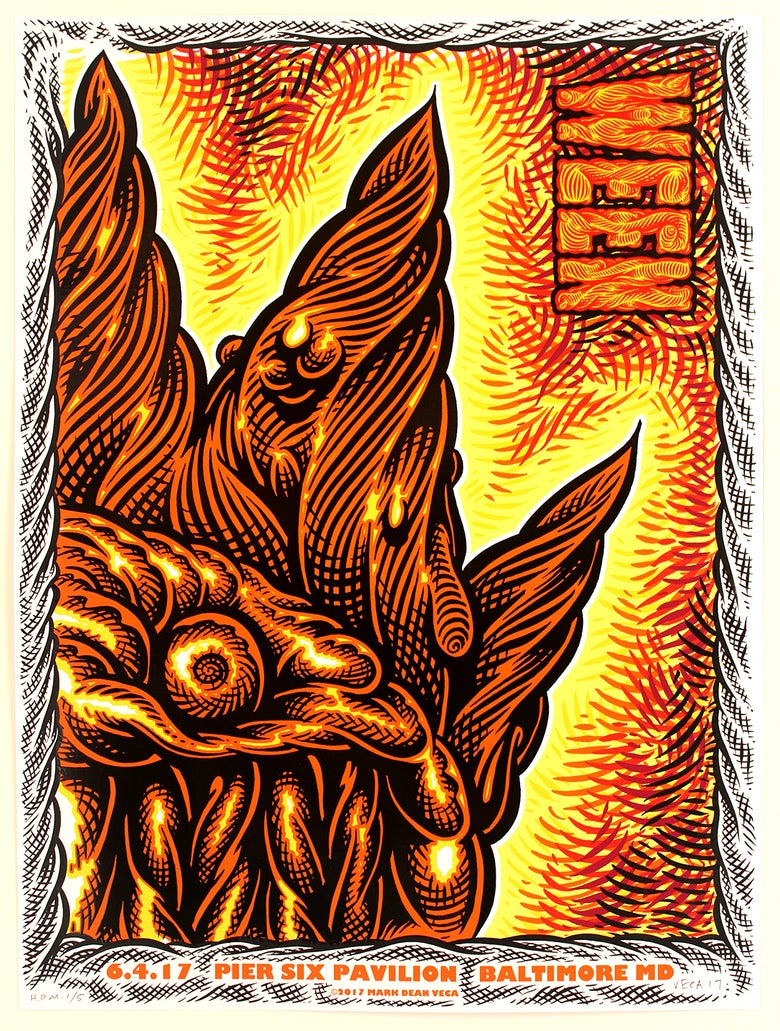 Image of  WEEN Tour Poster, Baltimore 2017 (Hand-Embellished)