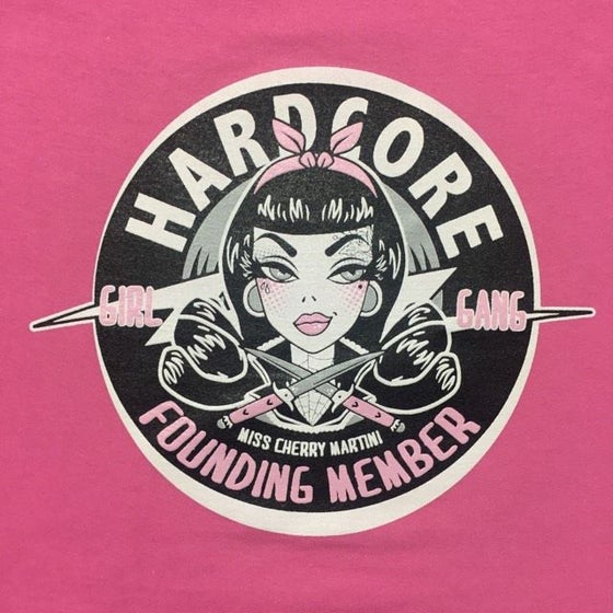 Image of Hard Core Girl Gang Ladies T-Shirt Limited edition Pink