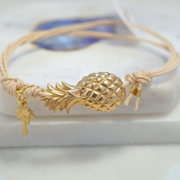 Image of Pineapple and palmtree friendship bracelet