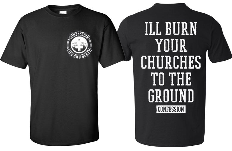 Image of CHURCHES TEE BLACK