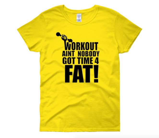 "Image of ""Workout"" Tee YELLOW"