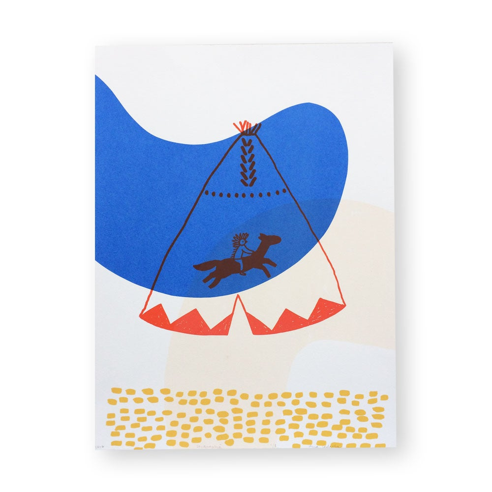 Image of affiche Tipi illustration sérigraphie