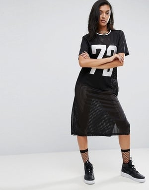 Image of ASOS CURVE Midi Basketball Dress