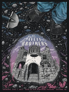 Image of The Avett Brothers in Gilford, NH Poster