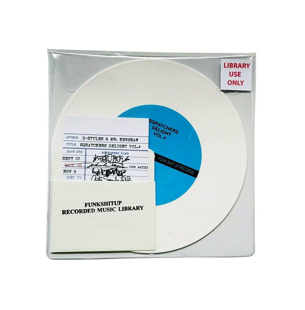 "Image of D-Styles x Mr. Henshaw - Sqratchers Delight Vol. 4  7"" White Vinyl"