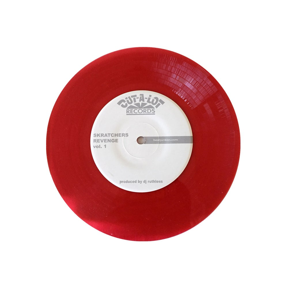 "Image of D-STYLES X DJ RUTHLESS – SKRATCHERS REVENGE VOL. 1 7"" TRANSPARENT RED"