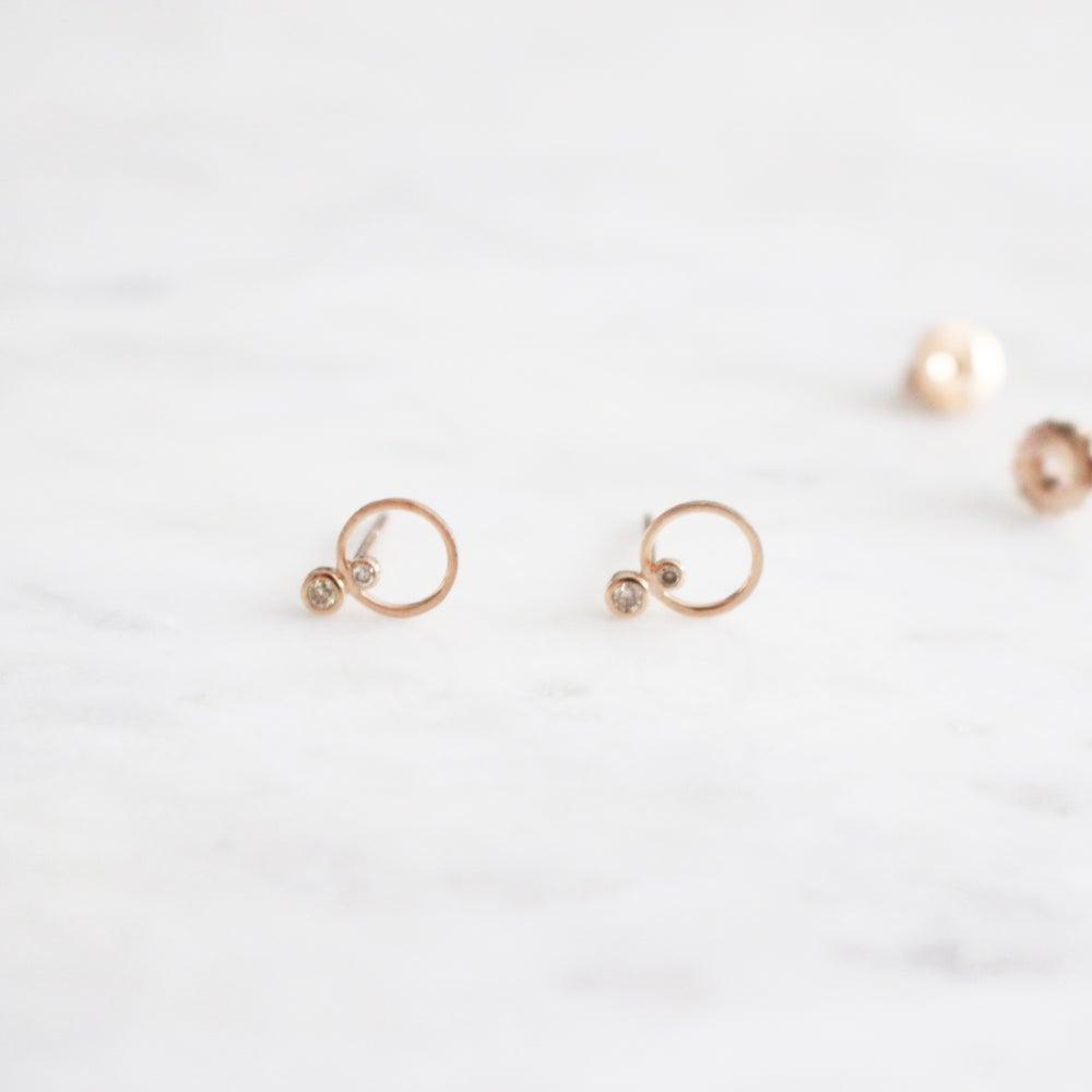 Image of Mini Circle Stud Earring