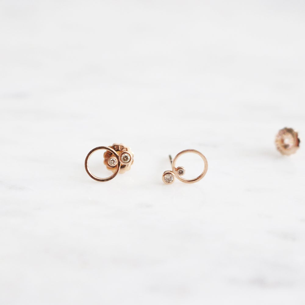 Image of Mini Circle Stud Earring