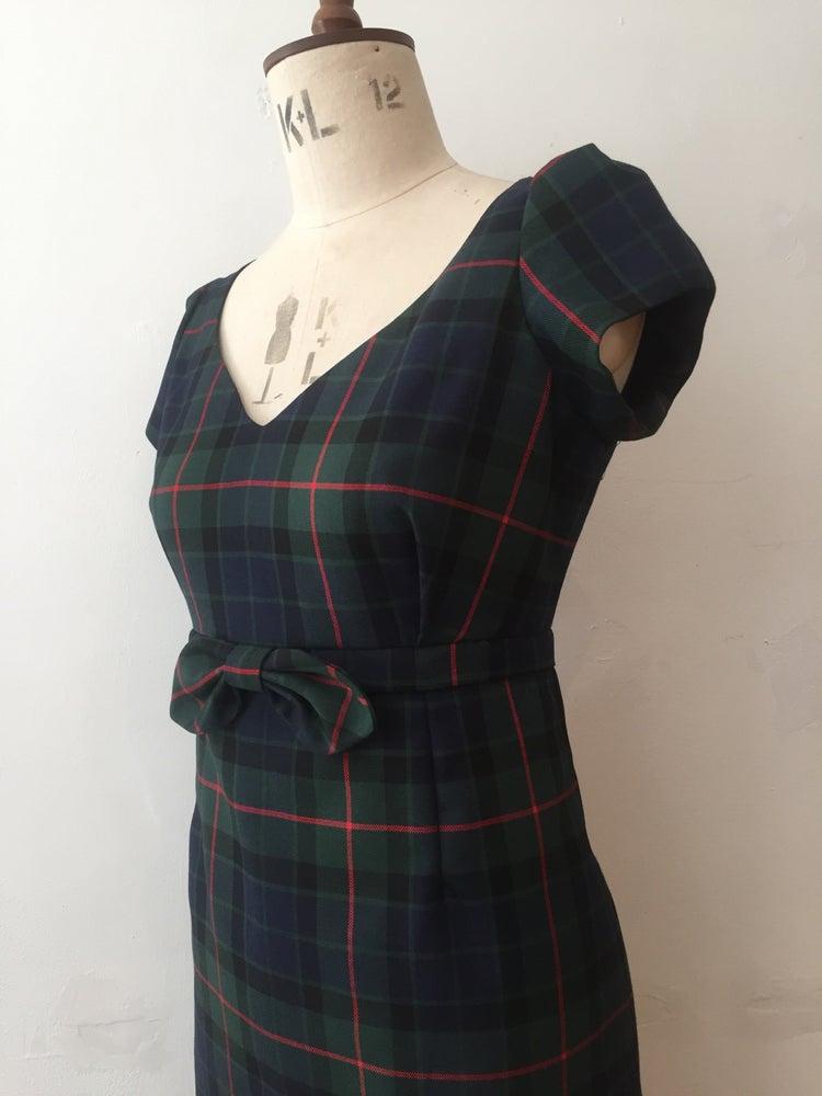 Image of Little bow tartan dress
