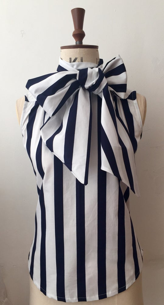 Image of Stripey cotton Lulu blouse