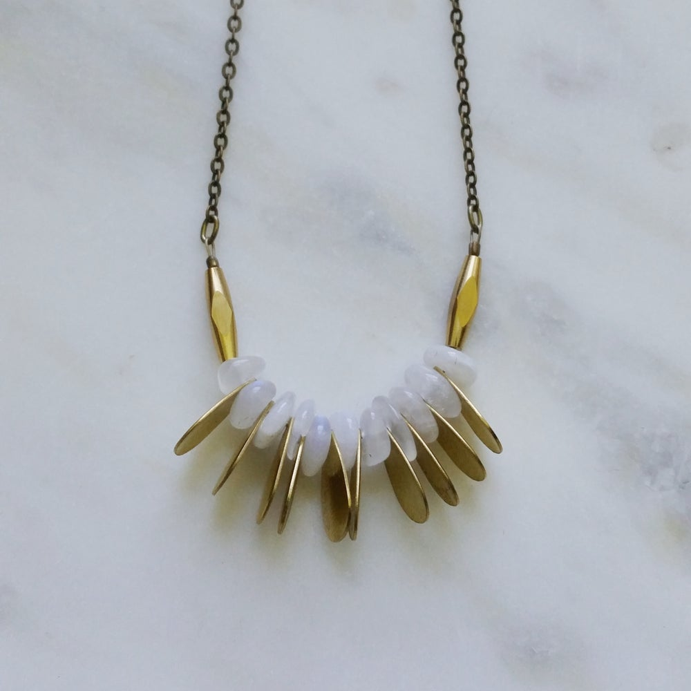 Image of Moonstone Stack Necklace