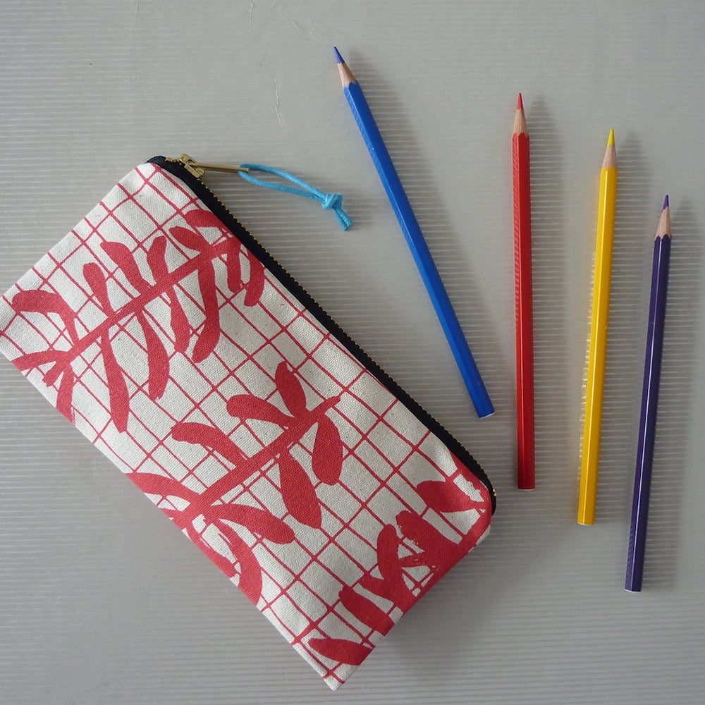 Image of Sprig Grid Pencil Case