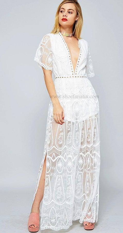 Image of Angelica Crochet Dress