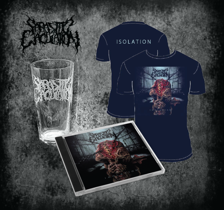 Image of Isolation CD, shirt, pint glass bundle *PREORDER*