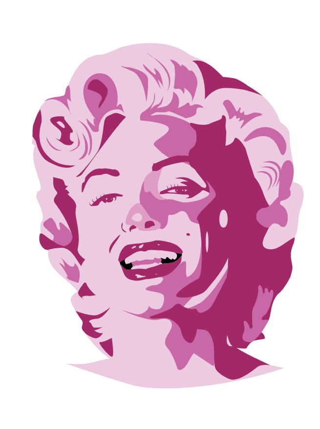 Image of Monroe by Gummo (Pin + Sticker)