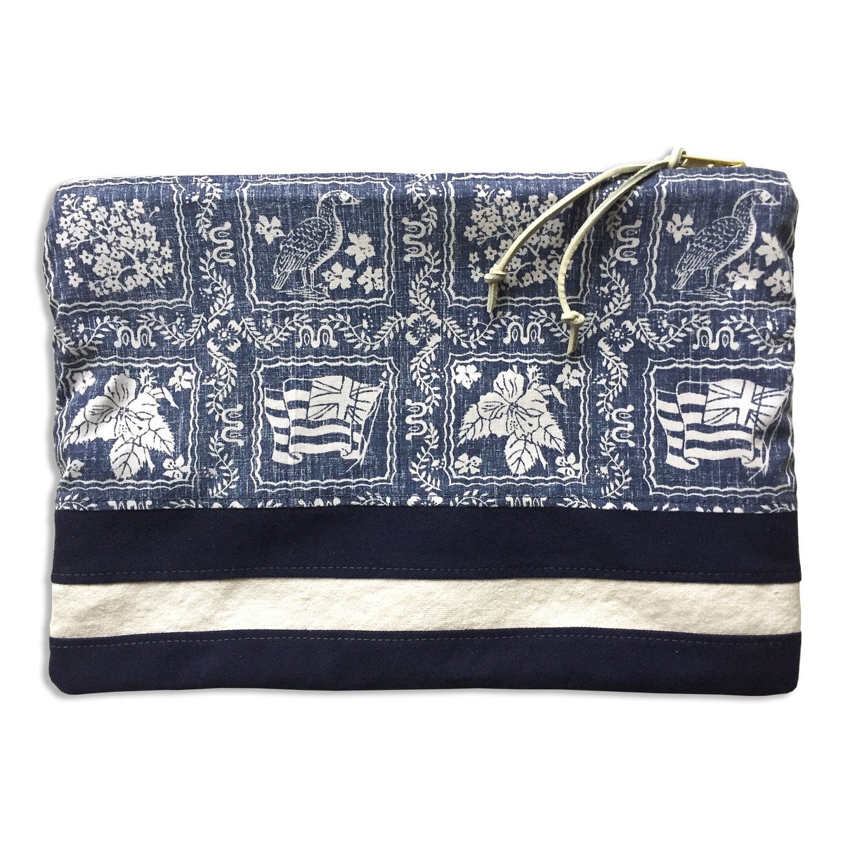 "Image of ""SURFBOARD STRIPE"" LARGE POUCH"