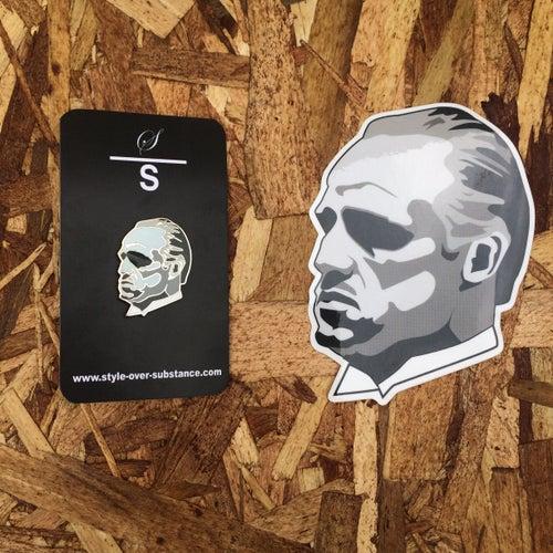 Image of Brando by Gummo (Pin + Sticker)