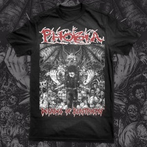 Image of PHOBIA decades of blastphemy Tshirt