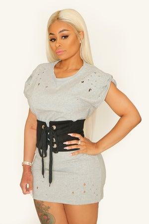 Image of Modesty Tee & Burlesque Corset
