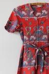 Image of SOLD Basket Batik Red Dress
