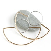 Image of Fan Hoops, Modern Bohemian Statement Hoop Earring Design Made From Recycled Metal