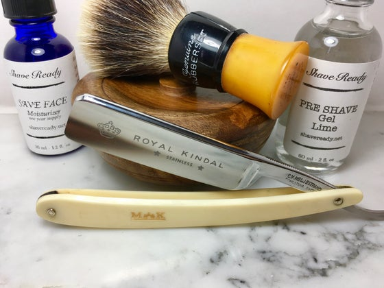 Image of Heljestrand Royal Kindal MK Stainless Steel Shave Ready Straight Razor