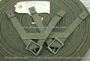WWII Airborne A-yokes for the Paratrooper Liners. Westinghouse. A-Straps OD#7
