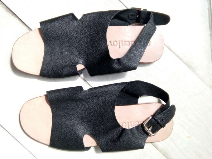 Image of OLIVIA SANDAL - BLACK