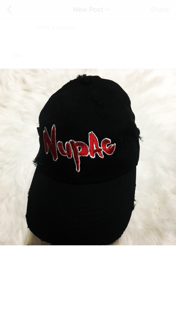 Image of (Limited Edition) NuPAC Hand Distressed Hat w/ Autographed Brim & CD