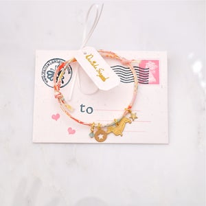 Image of Dog and star Liberty print bracelet