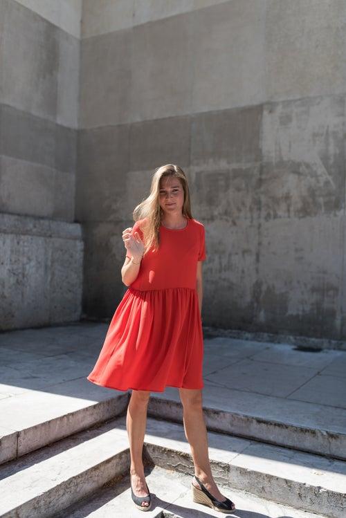 Image of ROBE EMMA - ROUGE