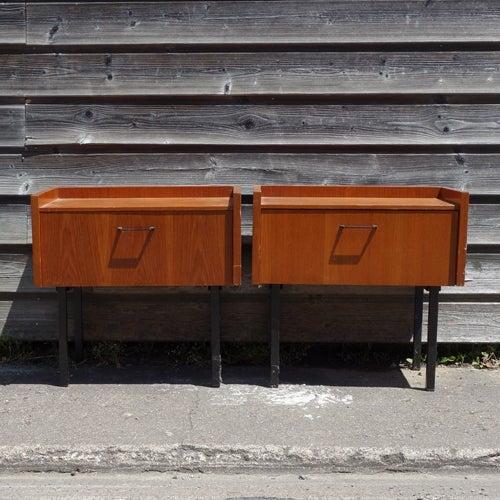 Image of Paire de meubles chevets années 60