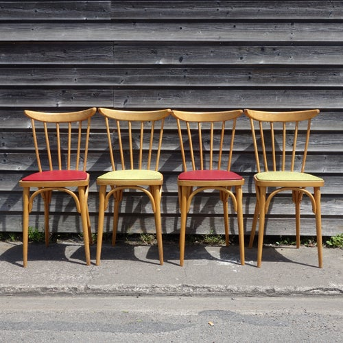 Image of Ensemble de 4 chaises années 50 N°1