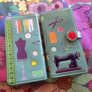 Image of Sewing themed purse