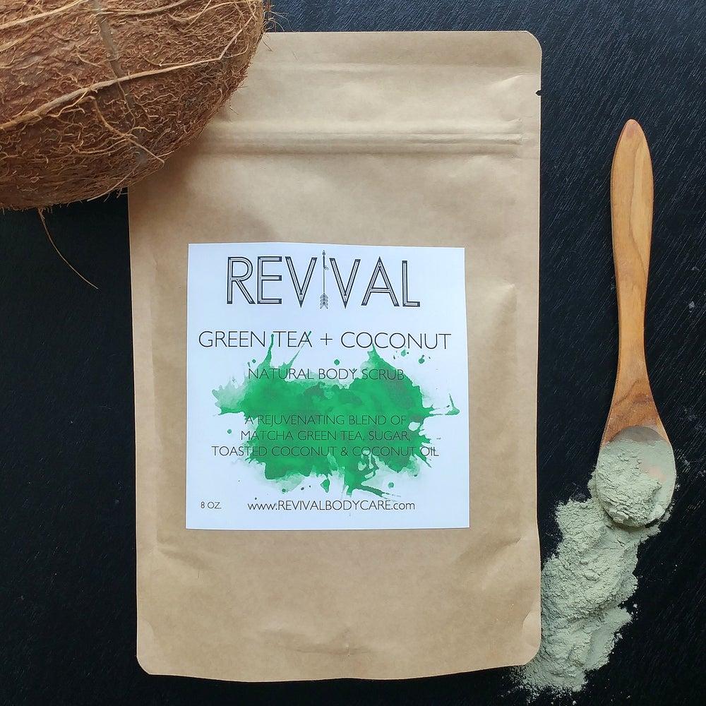 Image of GREEN TEA & COCONUT BODY SCRUB