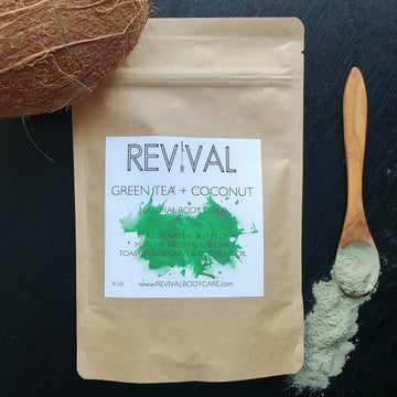 Image of GREEN TEA & COCONUT BODY SCRUB